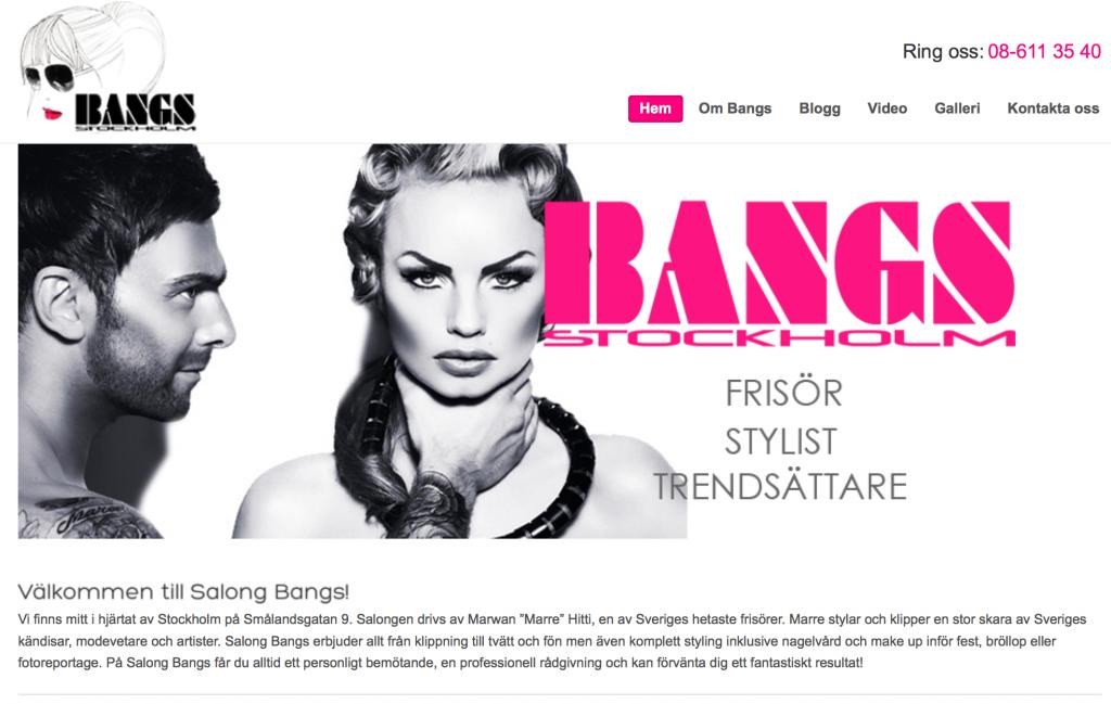 Salong Bangs hemsida