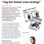 """ICA-Kuriren 2014-04-08 """"Jag har humor som strategi"""""""