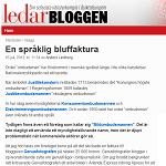 AB Ledarbloggen 20120716 En språklig bluffaktura 2