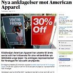 DN 2014-04-29 Nya anklagelser mot American Apparel