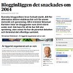 DN 2014-12-29 Blogginläggen det snackades om 2014