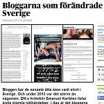 Dagens Nyheter 2013-12-29 Bloggarna som förändrade Sverige