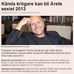 Dagens industri 20140206 Kända krögare kan bli Årets sexist 2013 2