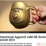 ETC 2014-02-07 American Apparel vald till Årets sexist 2013