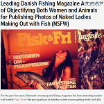 Gawker 2013-01-23 Leading Danish Fishing Magazine Accused of Objectifying Both Women and Animals for Publishing Photos of Naked Ladies Making Out with Fish