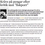 Journalisten 20130128 Krävs på pengar efter kritik mot fiskporr