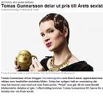 Metropol 2012-02-11 Tomas Gunnarsson delar ut pris till Årets sexist