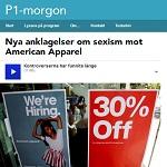 P1 2014-04-29 Nya anklagelser om sexism mot American Apparel