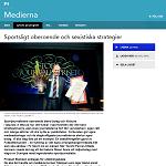 P1 Medierna 20140208 Sportsligt oberoende och sexistiska strategier