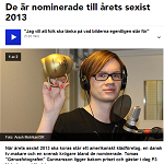 P3 Nyheter 2014-02-04 De är nominerade till årets sexist 2013