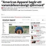 Resume 2014-03-31 American Apparel begår ett varumärkesmässigt självmord