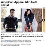 SVT Nyheter 20140207 American Apparel blir årets sexist
