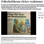 Svenska Dagbladet 2014-02-21 Polischefskram väcker reaktioner