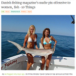 The Vine 20130124 Danish fishing magazine's nudie pix offensive to women, fish - 10 Things