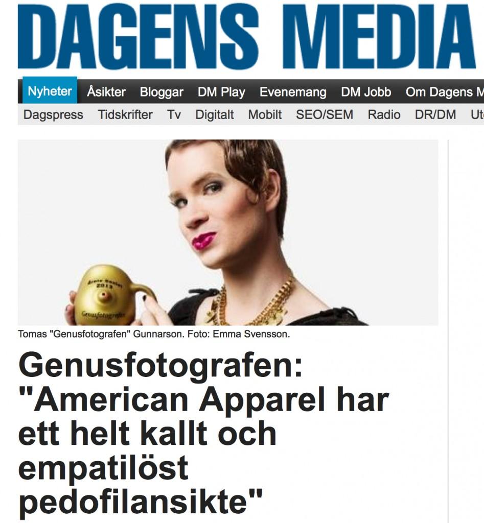 Tomas Gunnarsson Genusfotografen Pedofilansiktet