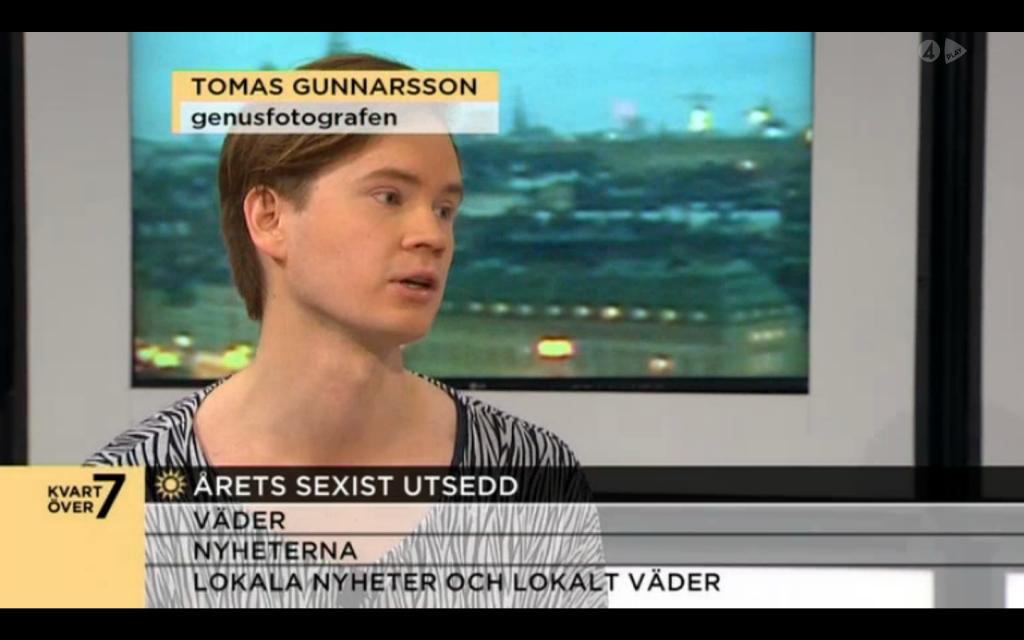 Tomas Gunnarsson Genusfotografen i Nyhetsmorgon