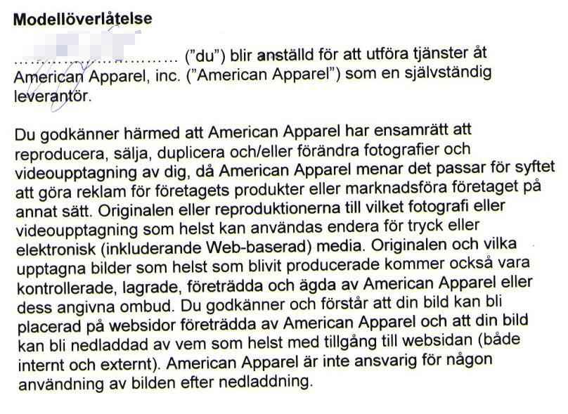 Kontraktet censurerat