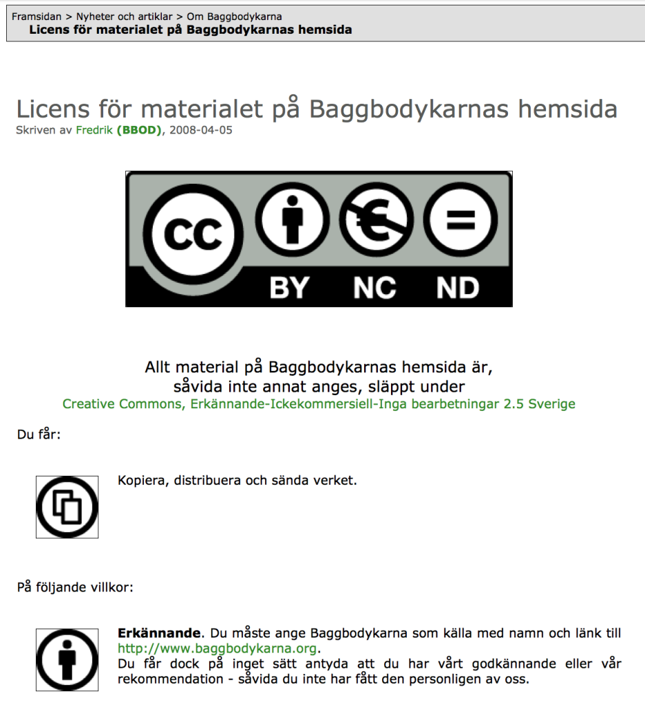 CC-BY-NC-ND 2.5 Baggbodykarna